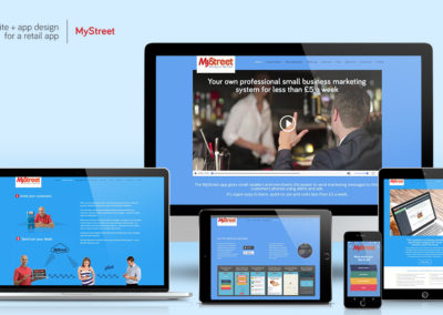 Website-design - MyStreet retail app