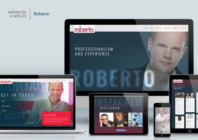 Website-design - Radio DJ Roberto