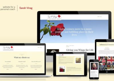 Website design - Sarah Virag