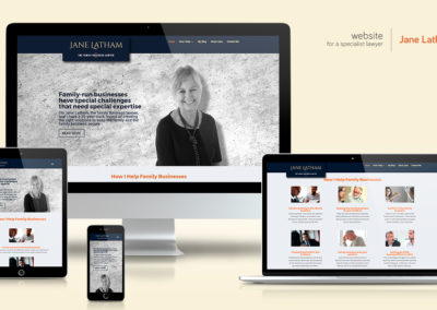 Website for a specialist lawyer