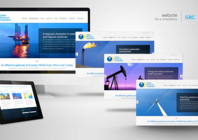 Website for an energy consultancy