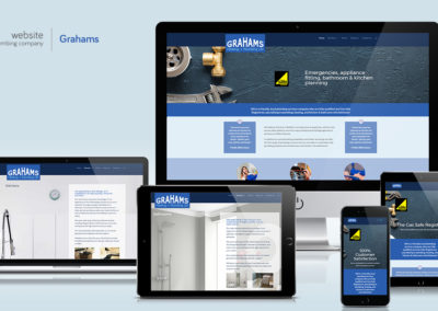 Website for a plumbing and heating company